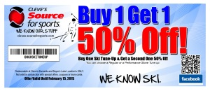 Bogo Ski Tune-up Coupon